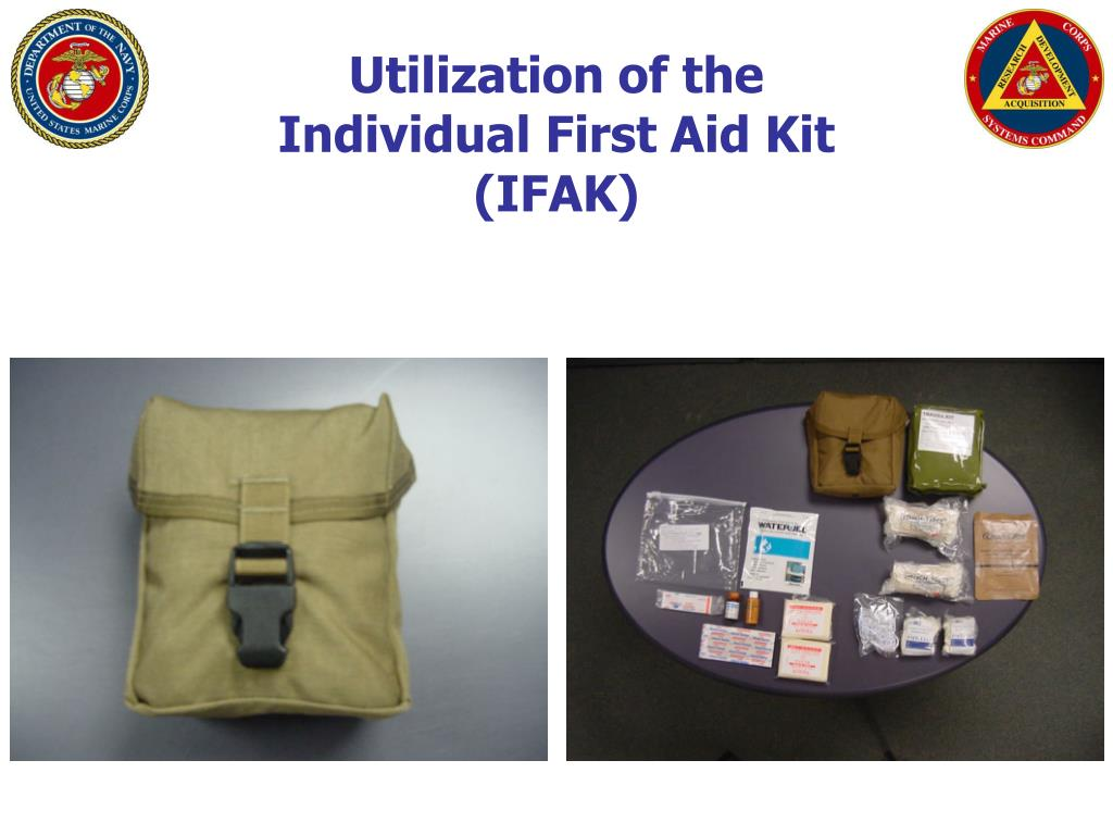 utilization of the individual first aid kit ifak l.