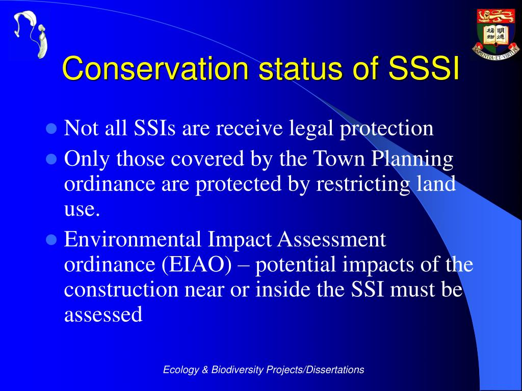 Conservation status of SSSI
