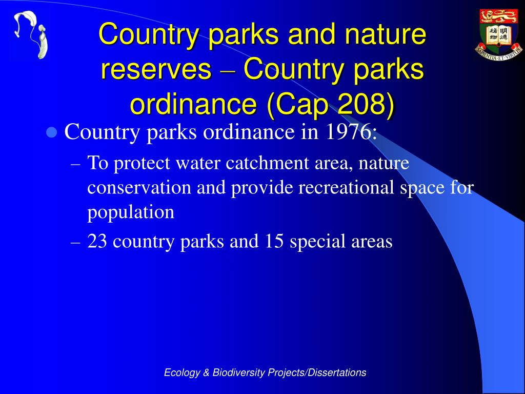 Country parks and nature reserves