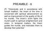 preamble 6