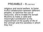 preamble 9 continue