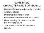 some basic characteristics of islam 2