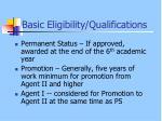 basic eligibility qualifications