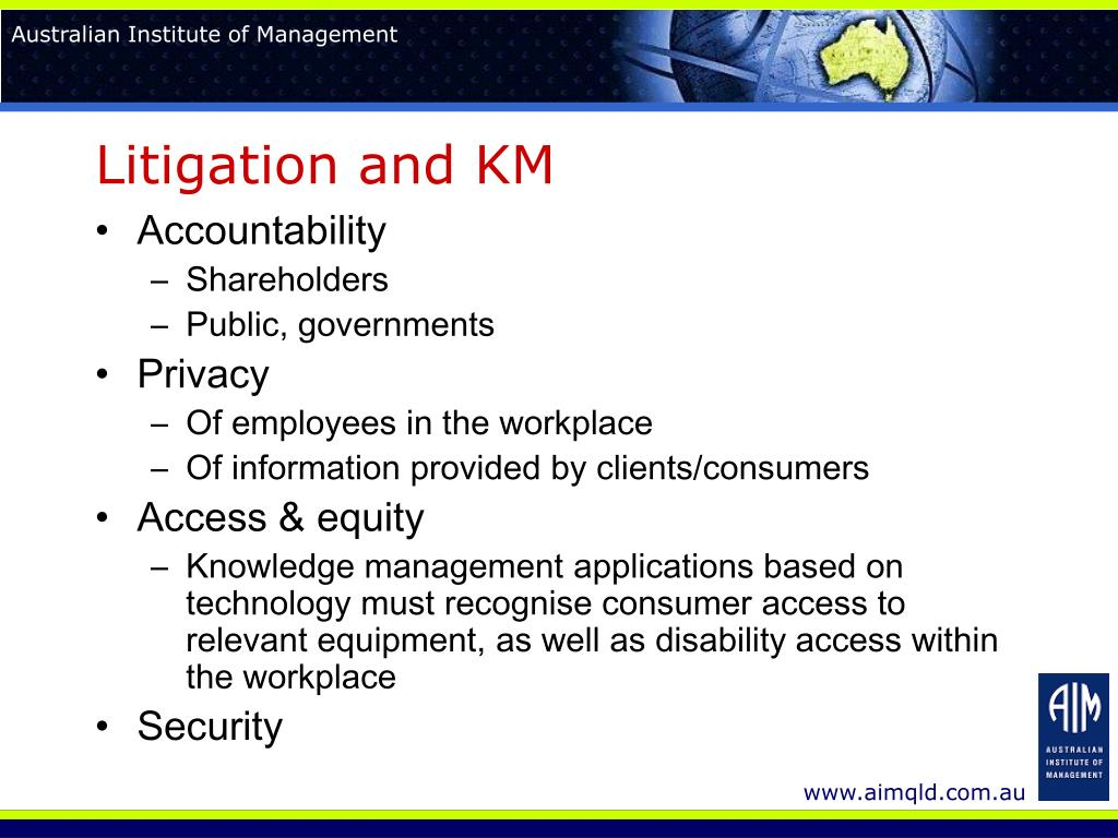 Litigation and KM
