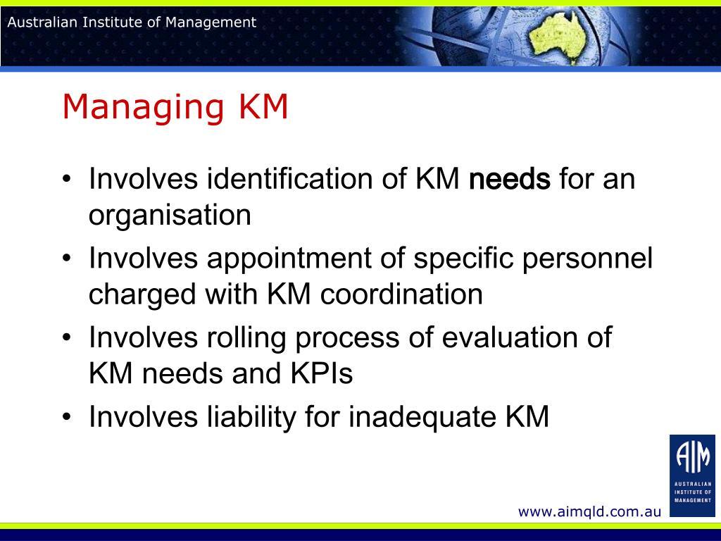 Managing KM