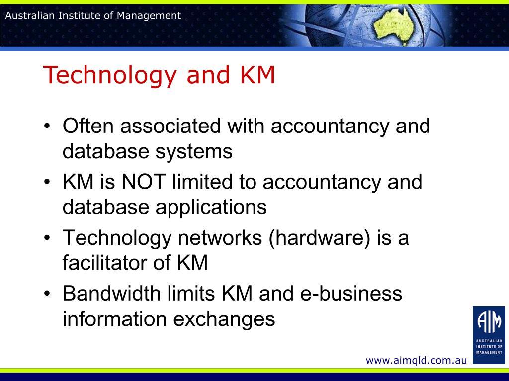 Technology and KM