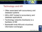 technology and km
