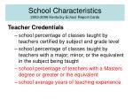 school characteristics 2003 2006 kentucky school report cards
