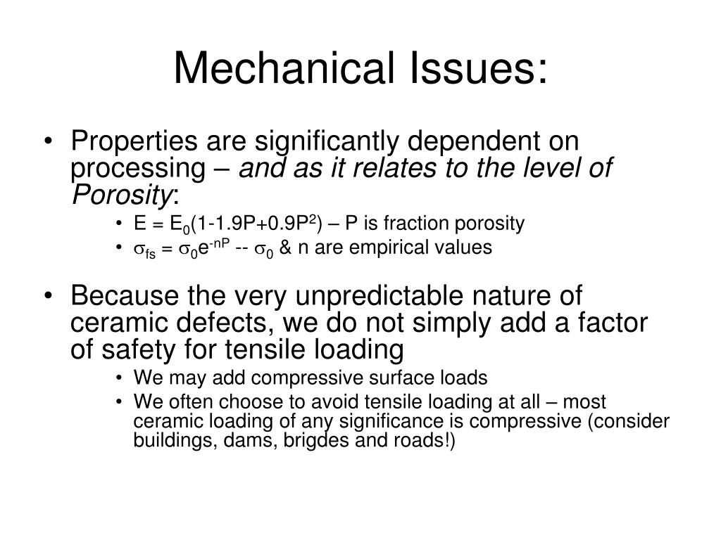 Mechanical Issues: