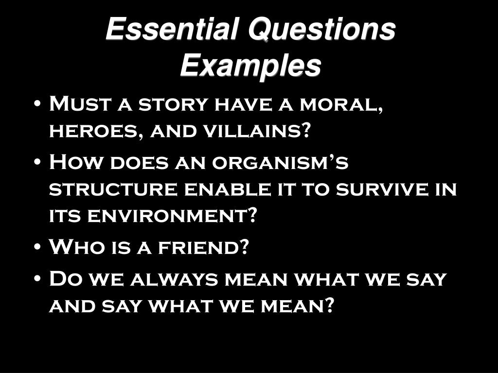 Essential Questions Examples