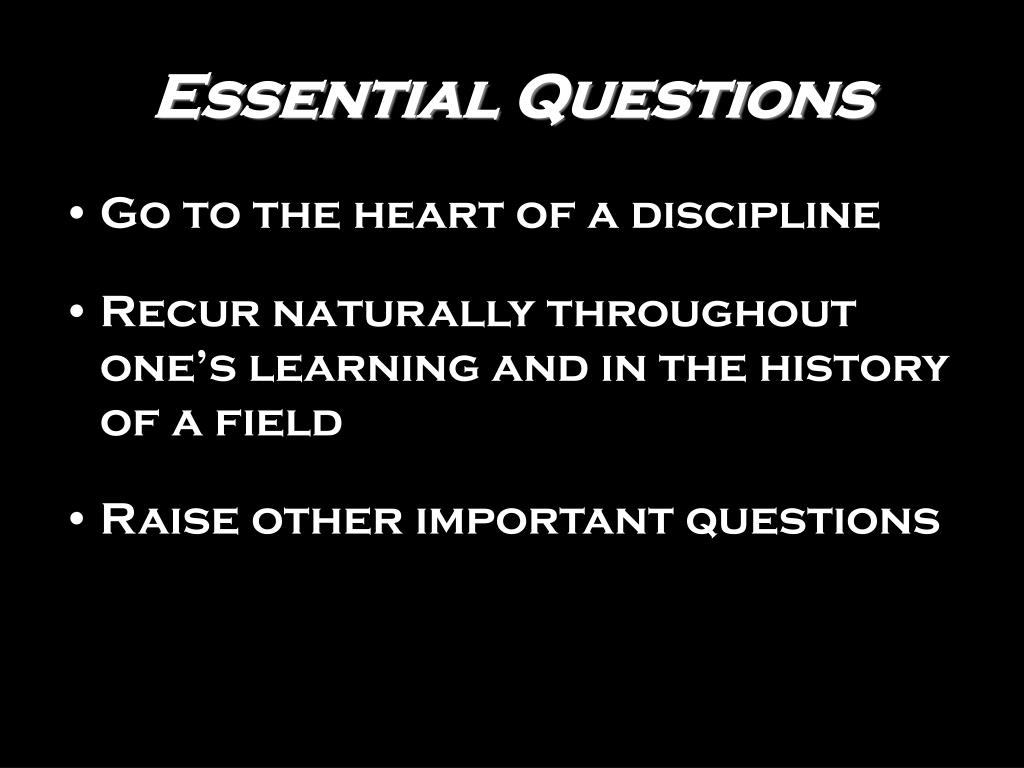 essential questions l.