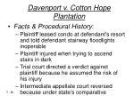 davenport v cotton hope plantation