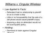 williams v cingular wireless6