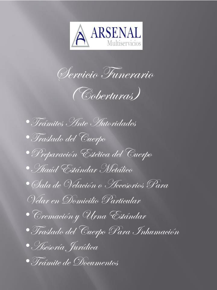 Servicio Funerario (Coberturas)