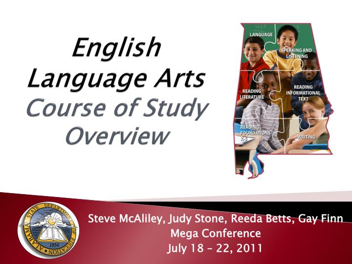 english language arts course of study overview n.