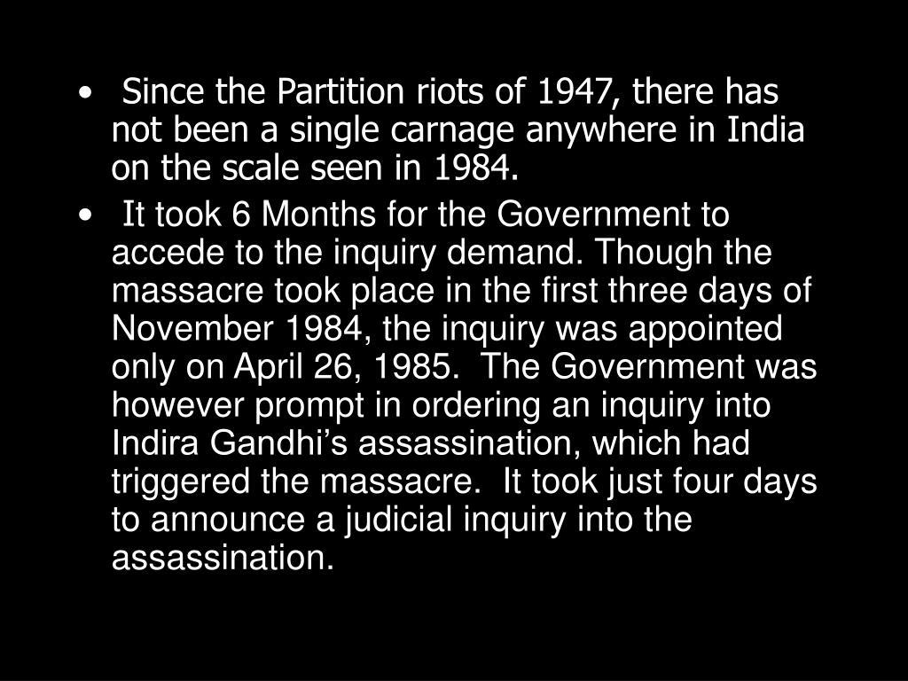 PPT - 1984 Sikh Massacre PowerPoint Presentation - ID:1384129
