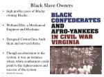 black slave owners