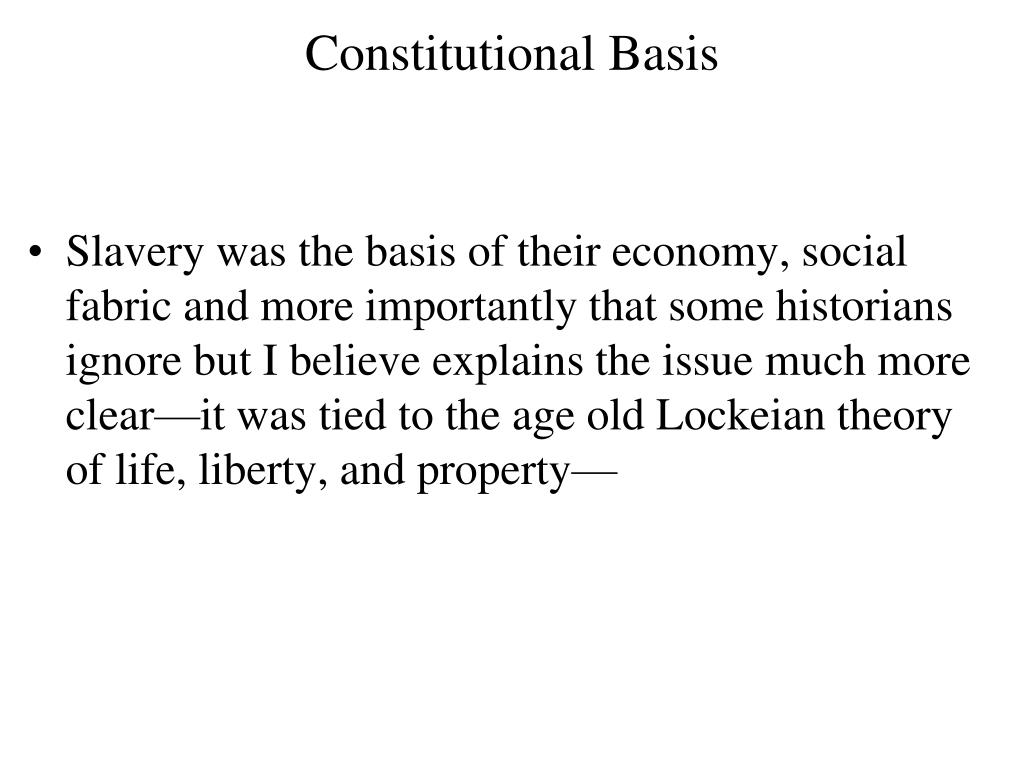 Constitutional Basis