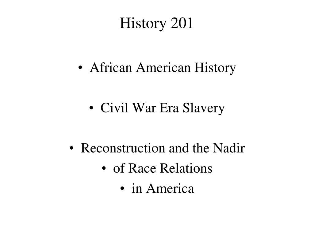 history 201 l.