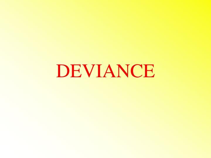 deviance n.