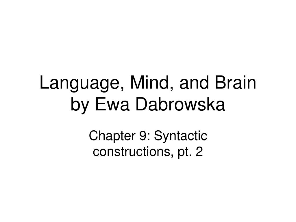 language mind and brain by ewa dabrowska l.