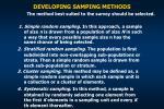 developing samping methods