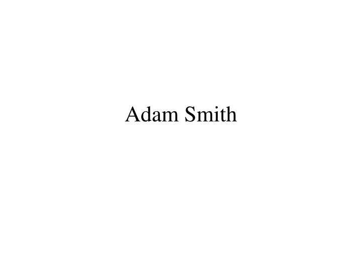 adam smith n.