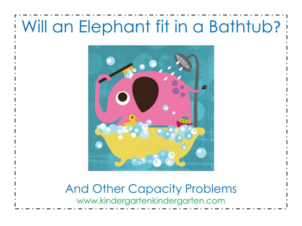 PPT - Will an Elephant fit in a Bathtub ? And Other Capacity ...