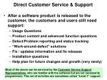 direct customer service support