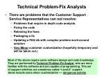 technical problem fix analysts