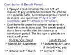 contribution benefit period