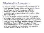 obligation of the employers