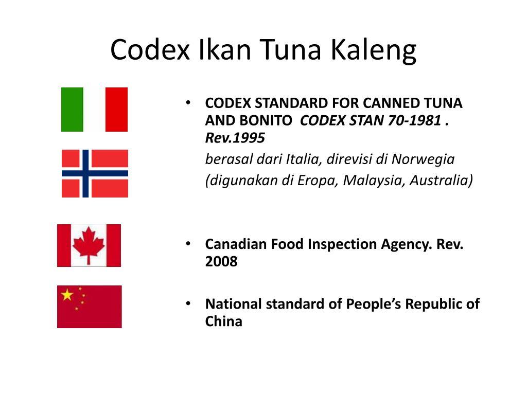 Ppt Codex Ikan Tuna Kaleng Powerpoint Presentation Id1384324 30 Liter N