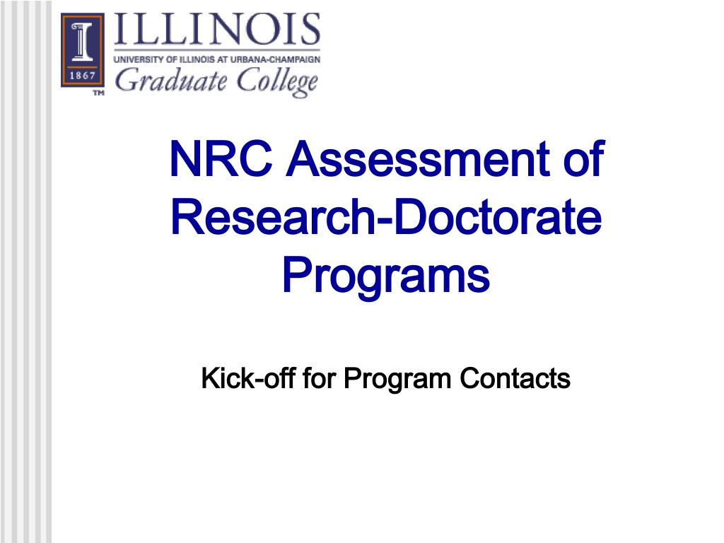 NRC Assessment of Research-Doctorate Programs