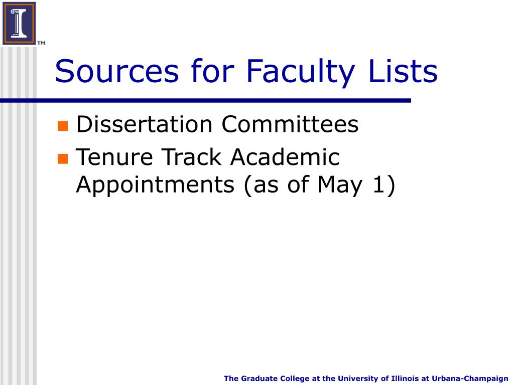 Sources for Faculty Lists