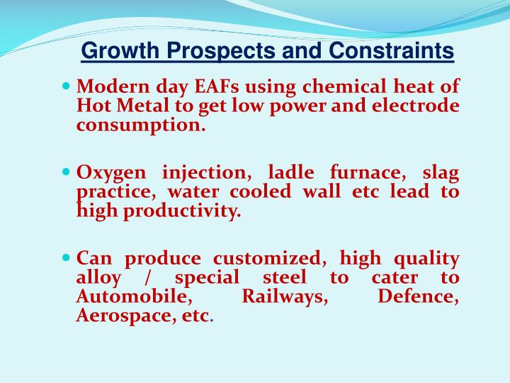 Growth Prospects and Constraints