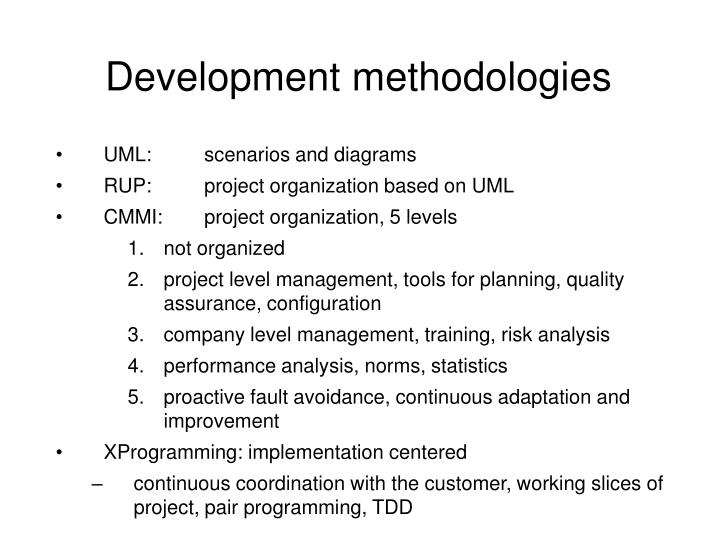 software development methodologies essay This paper is about agile project development history, why the need for agile project development arise, different methods used in implementation of agile project management and along with more positives then negatives of agile project development methods.