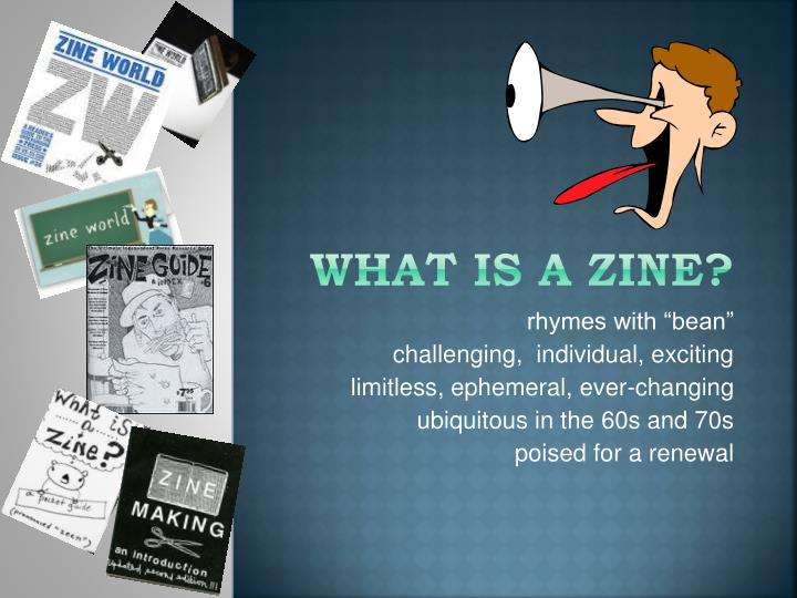 what is a zine n.