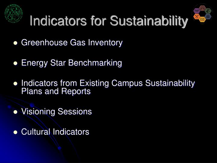Indicators for Sustainability