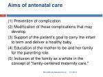 aims of antenatal care