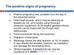 the positive signs of pregnancy