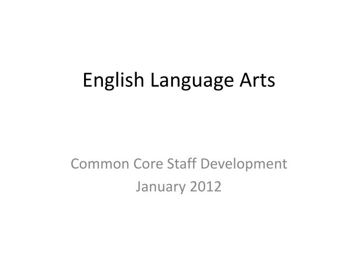 english language arts n.