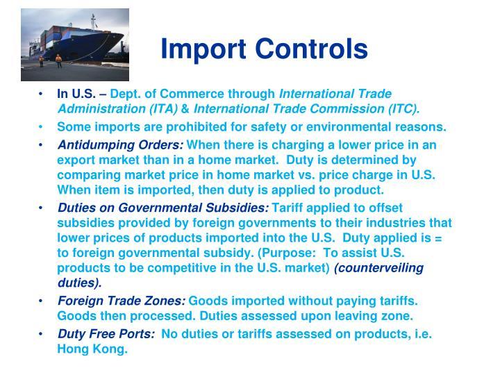 Import Controls