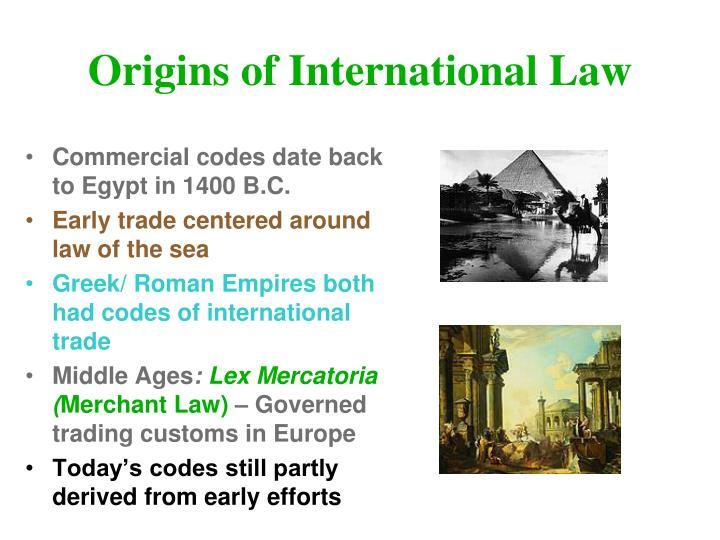 Origins of International Law