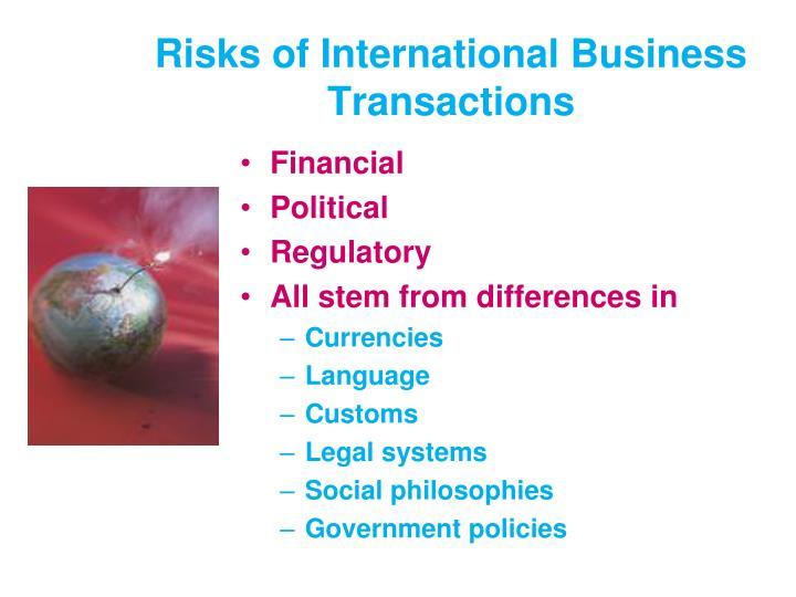Risks of International Business Transactions