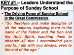 key 1 leaders understand the purpose of sunday school5