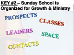 key 2 sunday school is organized for growth ministry