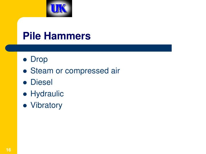 Pile Hammers