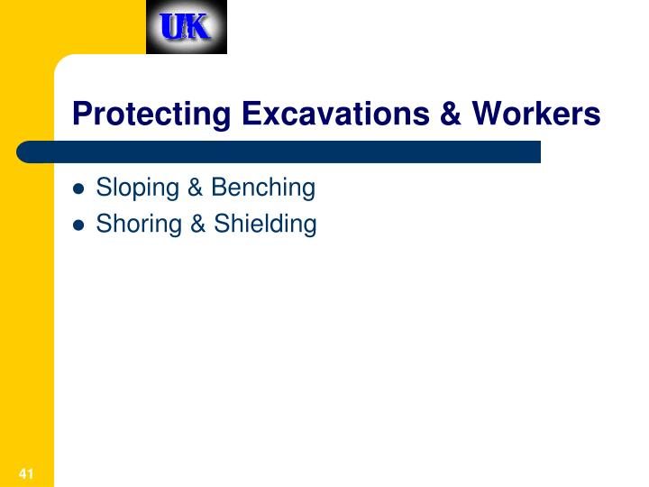 Protecting Excavations & Workers