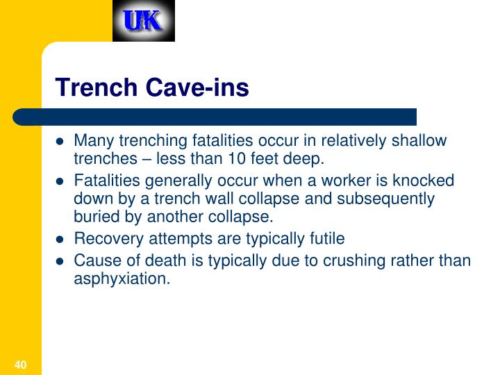 Trench Cave-ins